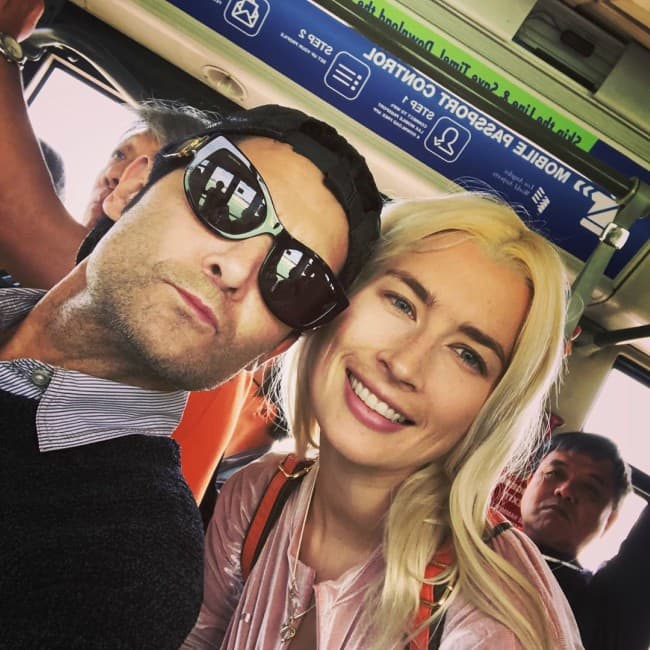 Corey Feldman and Courtney Anne Mitchell in a selfie in September 2019