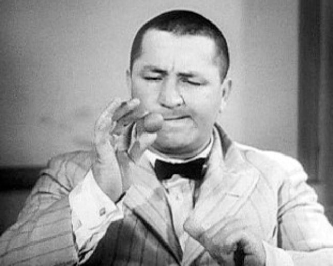 Curly Howard as seen in 'Disorder in the Court' in 1936