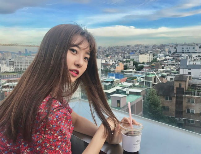 Dahye in an Instagram post in July 2018