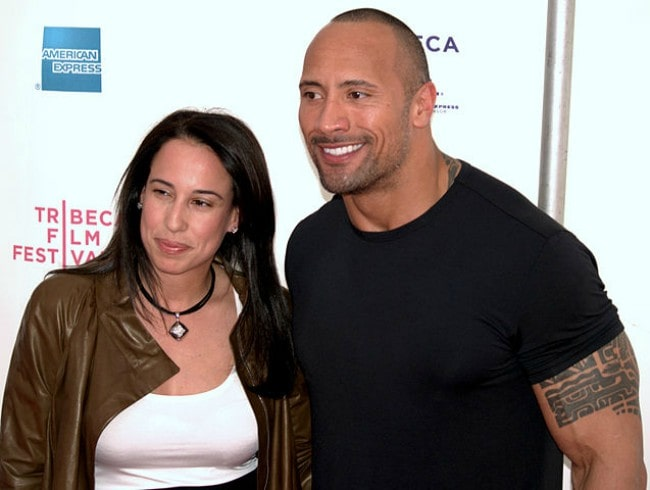 Dany Garcia and Dwayne Johnson as seen in April 2009