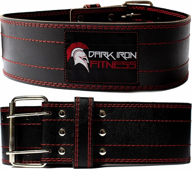 Dark Iron Fitness Leather Weightlifting Belt