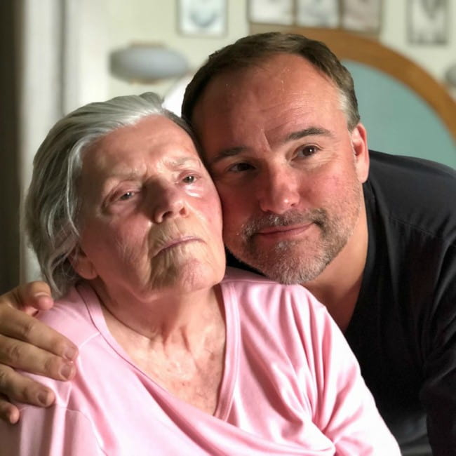 David DeLuise with his mother as seen in September 2019