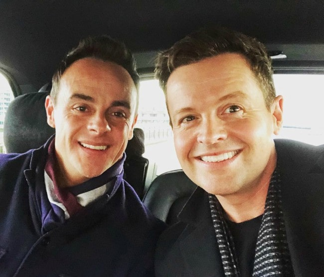 Declan Donnelly (Right) and Anthony McPartlin in a selfie in January 2019