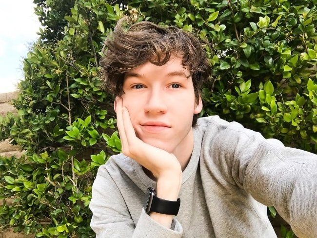 Devin Druid as seen while taking a golden hour selfie in May 2017