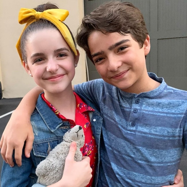 Elias Harger as seen while posing for a picture along with his 'Fuller House' co-actor, Mckenna Grace, in July 2019