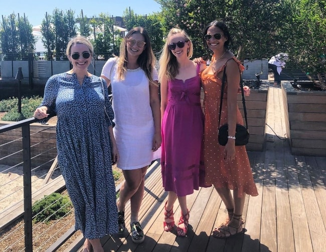From Left to Right - Allie Wood Abel, Cassandra Jean, Jessica Amento, and Lanaeo Raschin at Malibu Beach in Los Angeles, California, United States in August 2019