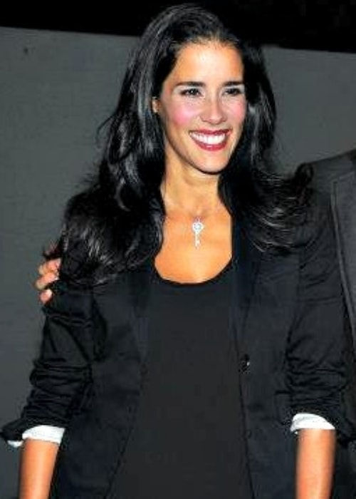 Gianella Neyra as seen in a picture taken at a press conference on January 30, 2013, in Bogotá, Colombia