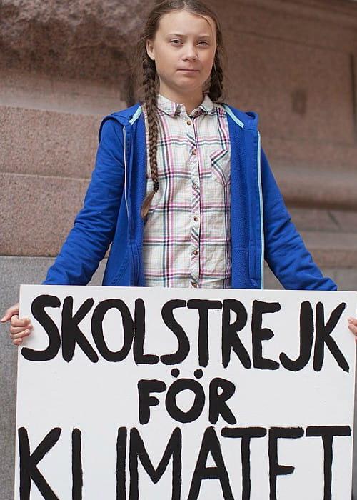 Greta Thunberg as seen in August 2018