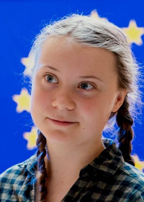 Greta Thunberg at the European Parliament in April 2019