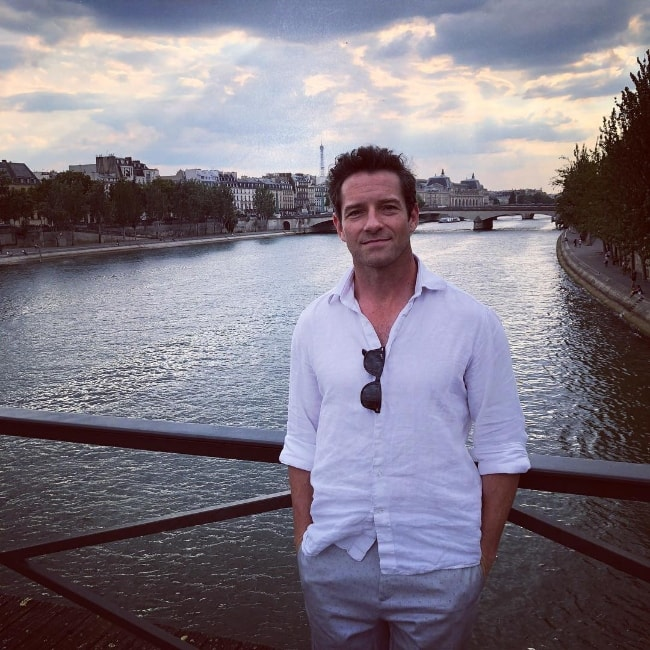 Ian Bohen as seen while posing for a picture in the 'City of Lights' i.e. Paris, France in July 2018