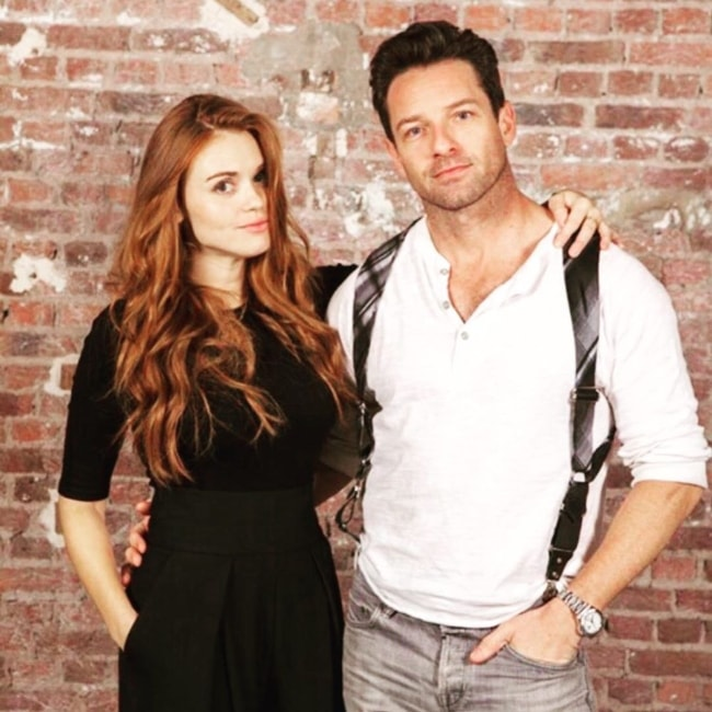 Ian Bohen as seen while posing for the camera along with his 'Teen Wolf' co-star Holland Roden