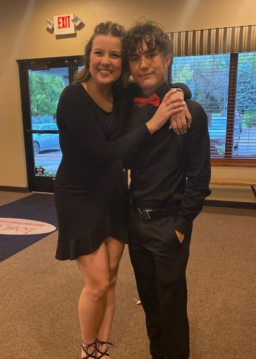 Ian Haueter as seen in a picture with his sister Kaylee Haueter in October 2019