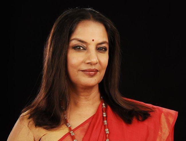 Indian actress Shabana Azmi