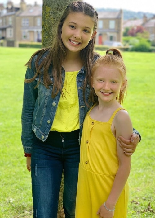Isabelle Ingham as seen in a picture with her younger sister Esmé Ingham in July 2019