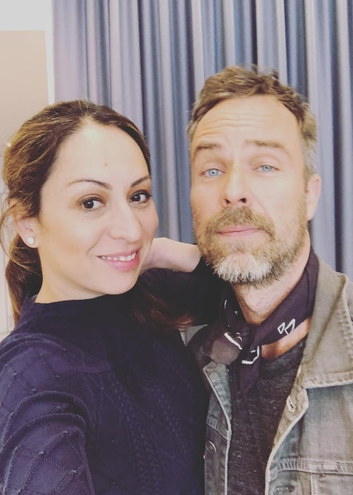 JR Bourne as seen while posing in a selfie along with Jenny Leeser in March 2018