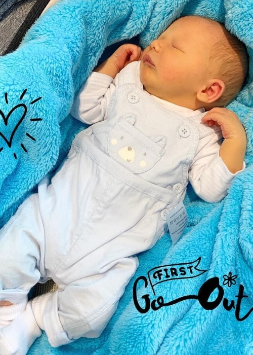 Jace Ingham as seen in a picture taken when he was just 10 days old in April 2019
