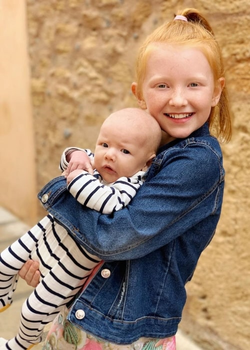 Jace Ingham as seen in a picture with his older sister Esme Ingham in May 2019