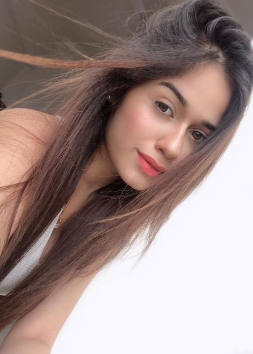 Jannat Zubair Rahmani as seen in a selfie taken in September 2019