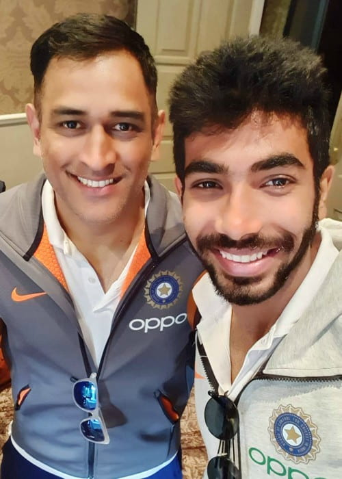 Jasprit Bumrah (Right) and Mahendra Singh Dhoni in a selfie in July 2019