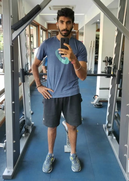 Jasprit Bumrah in a selfie as seen in May 2019