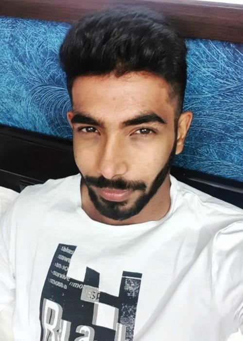Jasprit Bumrah in an Instagram selfie as seen in February 2019