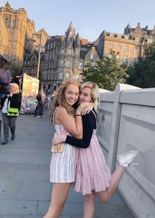 Jillian Shea Spaeder as seen in a picture with her friend Lilia Buckingham in Edinburgh, Scotland, United Kingdom in August 2019