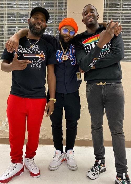 Karlous Miller as seen in a picture taken with YouTuber Desi Banks and Comedian Chico Bean in Nashville, Tennessee in October 2019