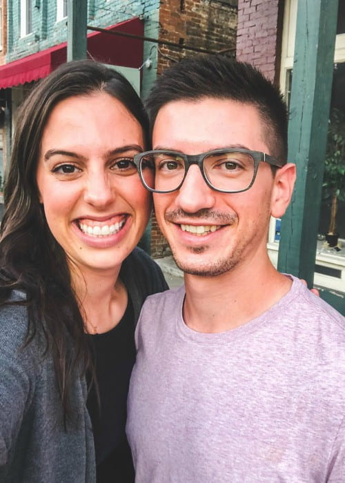 Katherine Ann Cimorelli and Max Straneva in a selfie in October 2019