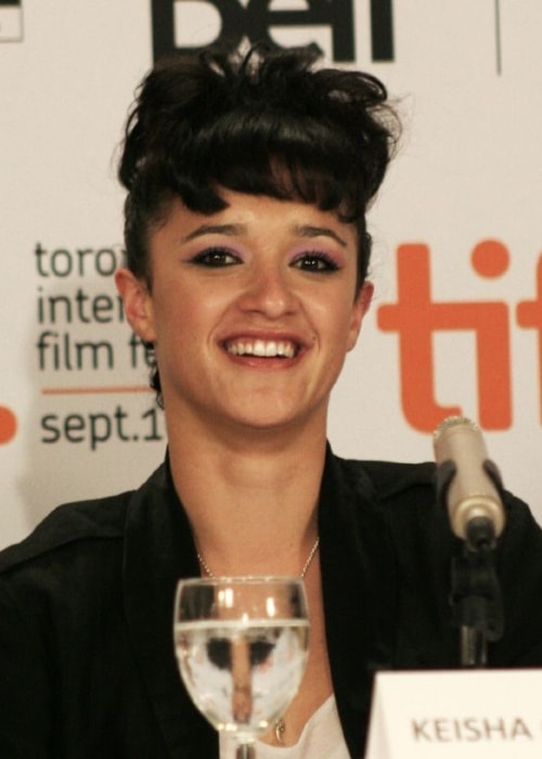 Keisha Castle-Hughes as seen in a picture taken at the press conference for 'The Vintner's Luck' in September 2009