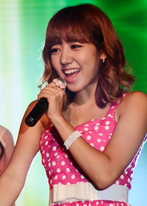 Kim Nam-joo as seen while performing at the Visit Korea concert in Singapore in November 2013