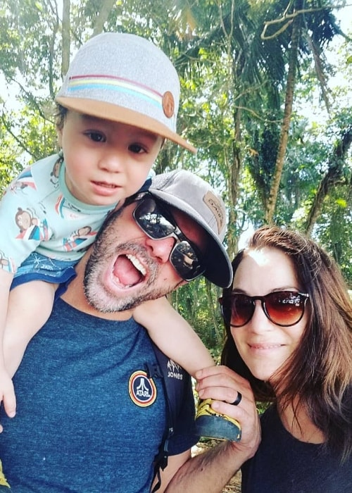 Lara Gilchrist as seen while posing in a family selfie at Cahuita National Park in Caribbean La Amistad Conservation Area in Costa Rica in February 2019