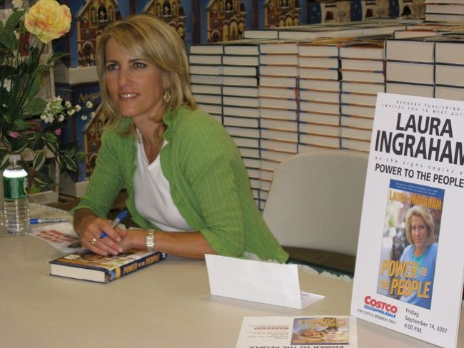 Laura Ingraham during the signing of her book Power To The People in 2007