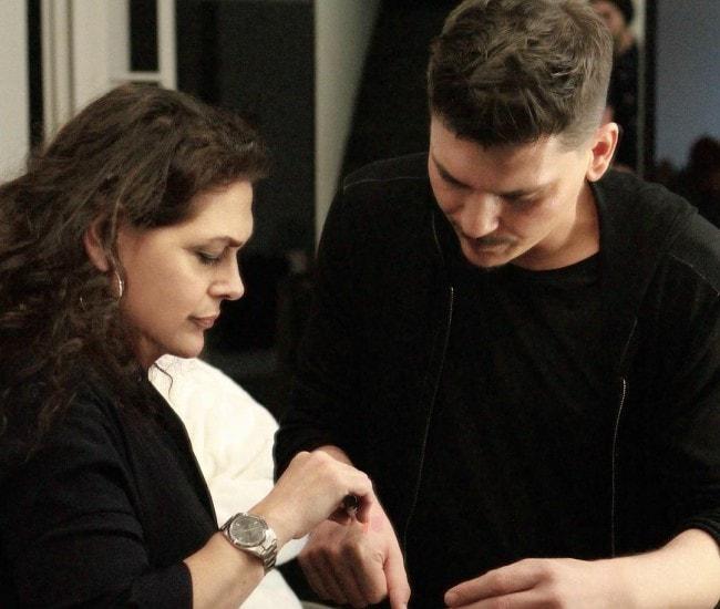 Laura Mercier and Mario Dedivanovic as seen in May 2017