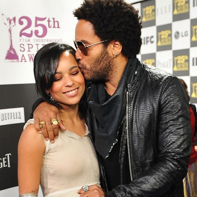 Lenny seen with his daughter Zoe Kravitz in 2010