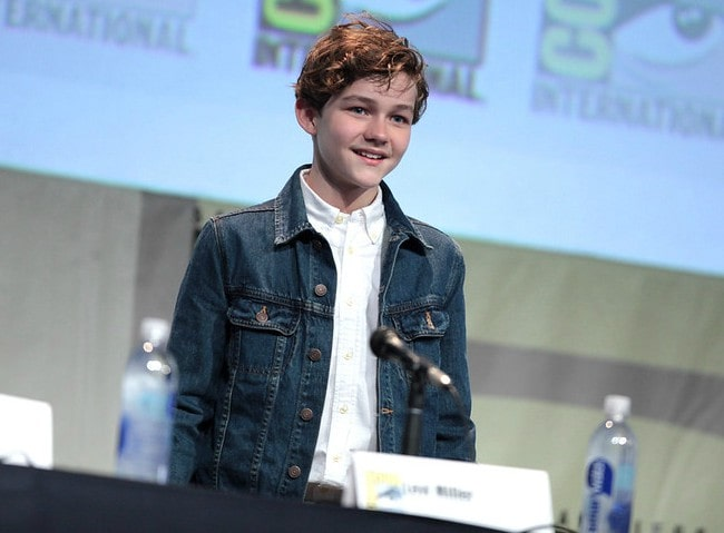 Levi Miller at the 2015 San Diego Comic Con International