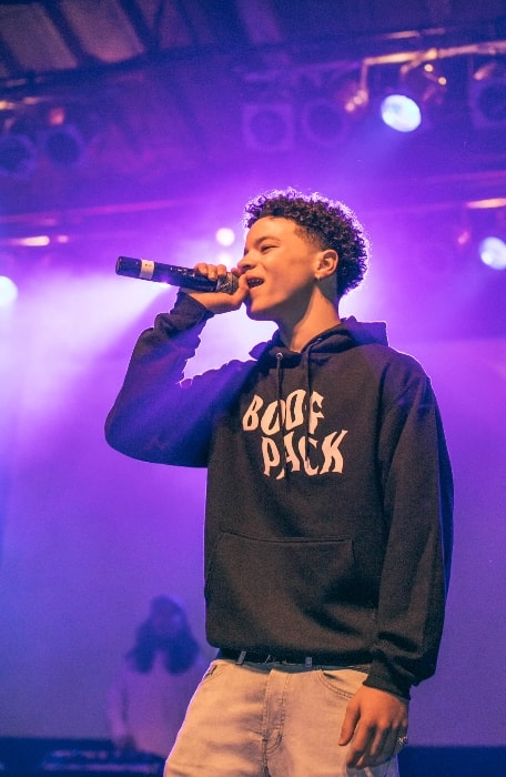 Lil Mosey as seen while performing at The Phoenix Concert Theatre in Toronto, Ontario, Canada in May 2018