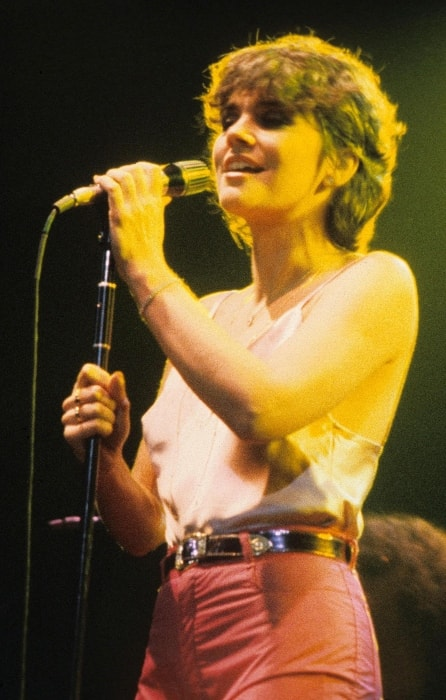 Linda Ronstadt as seen while performing at a WPLR Show in New Haven, Connecticut in the New Haven Veterans Memorial Coliseum in August 1978