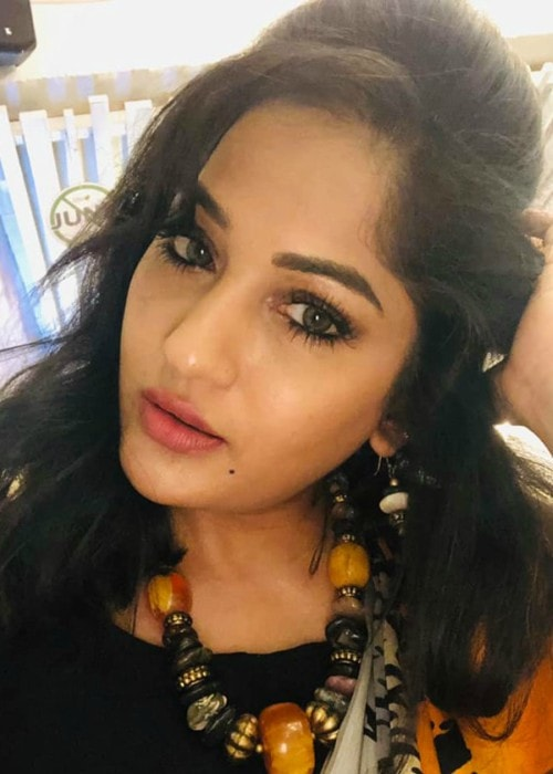 Maadhavi Latha in a selfie as seen in June 2019