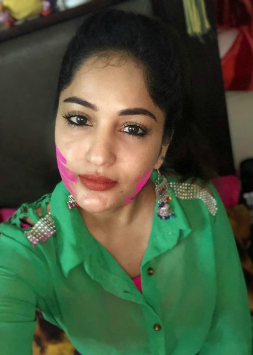 Maadhavi Latha in a selfie as seen in September 2019