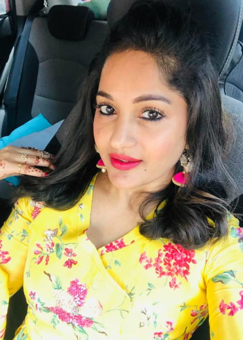 Maadhavi Latha in a selfie in July 2019