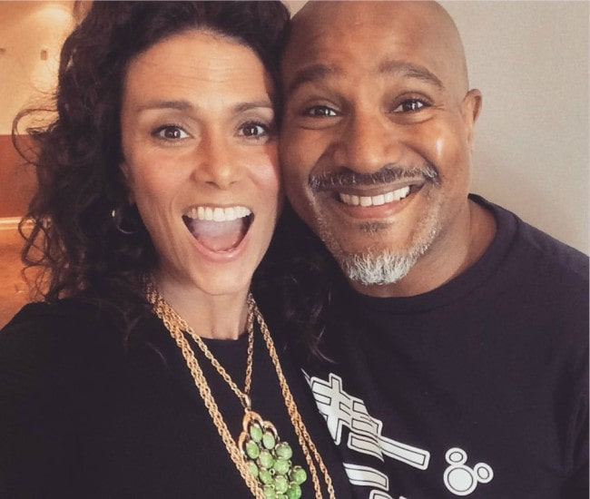 Melissa Ponzio and Seth Gilliam in a selfie as seen in July 2019