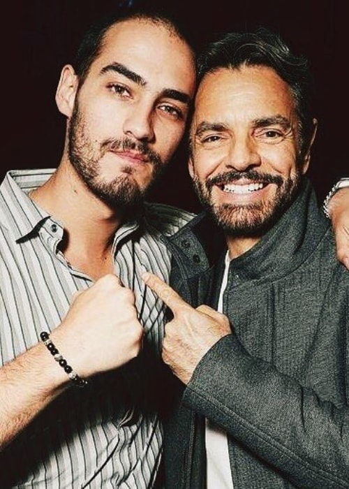 Michel Duval as see in a picture with actor Eugenio Derbez in March 2019
