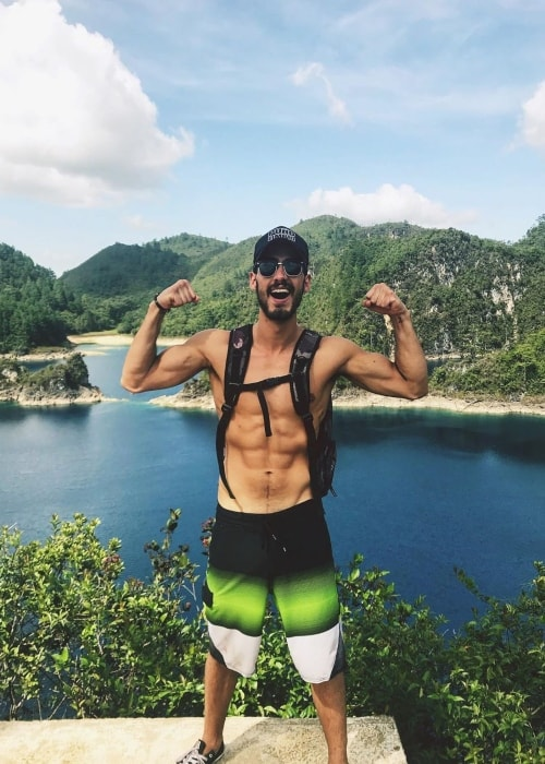 Michel Duval as seen in a selfie taken in Lagos De Montebello in July 2019