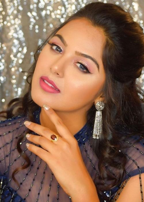 Monal Gajjar as seen in a picture taken in July 2019