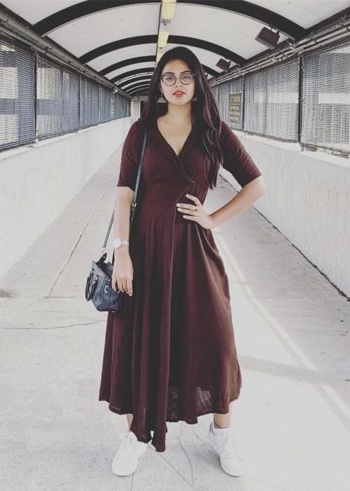 Monal Gajjar as seen in a picture taken in June 2019