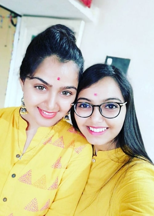 Monal Gajjar as seen in a picture with her older sister Hemali Gajjar that was taken in June 2019