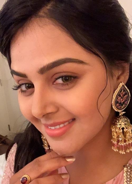 Monal Gajjar as seen in a selfie taken in July 2019
