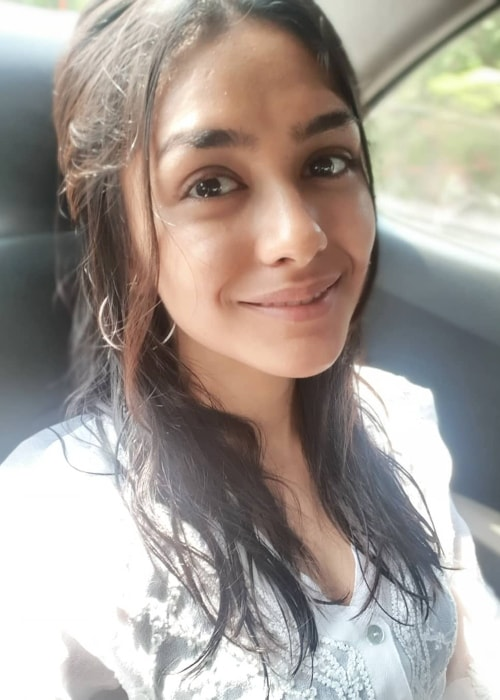 Mrunal Thakur as seen in a selfie taken in May 2019