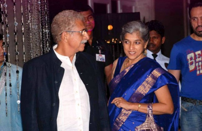Naseeruddin Shah and Ratna Pathak as seen in July 2012