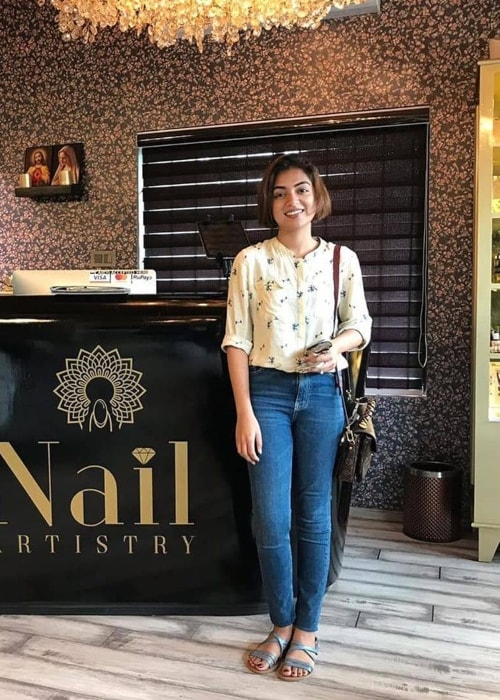 Nazriya Nazim as seen in a picture taken in September 2019